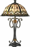 Dale Tiffany TT14244 Florence Tiffany Dark Bronze Side Table Lamp