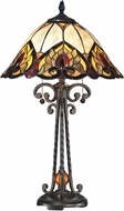 Dale Tiffany TT14245 Reservoir Tiffany Dark Bronze Table Lamp