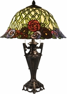 Dale Tiffany TT14296 Misty Rose Tiffany Fieldstone Side Table Lamp