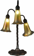 Dale Tiffany TT15073 Gold Lily Modern Antique Bronze/Verde Table Light
