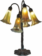 Dale Tiffany TT15074 Gold Lily Contemporary Antique Bronze/Verde Table Lighting