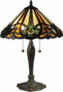 Dale Tiffany TT15083 Sawyer Tiffany Antique Bronze/Verde Table Lamp Lighting