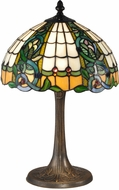 Dale Tiffany TT15086 Asure Tiffany Antique Brass Side Table Lamp