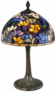 Dale Tiffany TT15088 Blue Ridge Tiffany Antique Brass Table Lamp