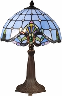 Dale Tiffany TT15090 Blue Baroque Tiffany Antique Bronze/Verde Table Light