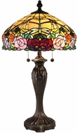 Dale Tiffany TT15097 Rose Tiffany Fieldstone Lighting Table Lamp