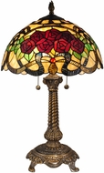 Dale Tiffany TT15099 Rose Tiffany Antique Brass Table Lamp Lighting