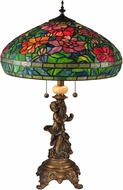 Dale Tiffany TT15101 Rosemead Tiffany Antique Brass Table Lamp