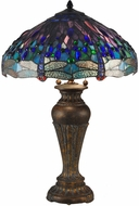 Dale Tiffany TT15102 Dragonfly Tiffany Fieldstone Table Top Lamp