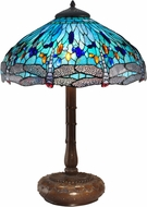 Dale Tiffany TT15103 Dragonfly Tiffany Antique Bronze Side Table Lamp