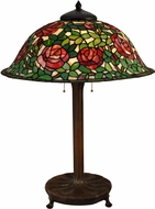 Dale Tiffany TT15105 Rose Bush Tiffany Antique Bronze Table Light