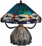 Dale Tiffany TT15106 Dragonfly Tiffany Antique Bronze/Verde Table Lighting