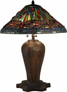 Dale Tiffany TT15107 Dragonfly Tiffany Antique Bronze Lighting Table Lamp