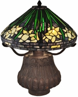 Dale Tiffany TT15113 Daffodil Tiffany Antique Bronze Table Lamp Lighting