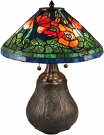 Dale Tiffany TT15119 Dallas Peony Tiffany Antique Bronze Table Light