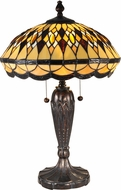 Dale Tiffany TT15154 Ginger Diamond Tiffany Dark Bronze Side Table Lamp