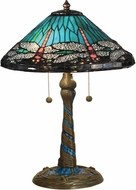 Dale Tiffany TT15159 Dragonfly Tiffany Antique Bronze Table Lamp