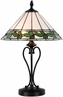 Dale Tiffany TT15470LED Green Leaves Tiffany Tiffany Bronze LED Table Lamp Lighting