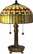 Dale Tiffany TT16083 Mayor Island Tiffany Antique Bronze Table Lamp Lighting