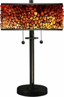 Dale Tiffany TT17018 Pebblestone II Tiffany Bronze Table Lighting