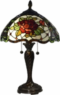 Dale Tiffany TT17074 Tiffany Rose Tiffany Fieldstone Table Lamp Lighting