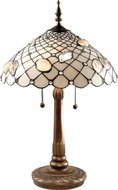 Dale Tiffany TT60055 Seashell Tiffany Dark Antique Brass Table Lighting
