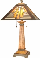 Dale Tiffany TT60287 Thunder Bay Tiffany Antique Brass / Mahogany Table Lamp Lighting