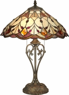 Dale Tiffany TT70699 Marshall Tiffany Antique Bronze Table Light