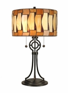 Dale Tiffany TT90021 Addison Tiffany Dark Antique Bronze Table Lamp