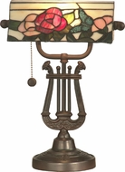 Dale Tiffany TT90186 Broadview Bank Tiffany Antique Bronze Desktop Lamp