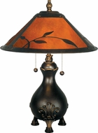 Dale Tiffany TT90193 Mica Leafs Antique Golden Sand Table Lamp Lighting