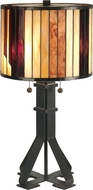 Dale Tiffany TT90273 Geometric Tiffany Dark Antique Bronze Table Lamp