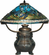 Dale Tiffany TT90421 Dragonfly Antique Bronze / Verde Table Light