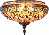 Dale Tiffany TW11160 Dragonfly Tiffany Antique Brass Lighting Sconce
