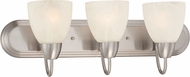 Designers Fountain 15005-3B-35 Torino Brushed Nickel 3-Light Lighting For Bathroom