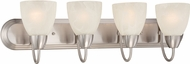 Designers Fountain 15005-4B-35 Torino Brushed Nickel 4-Light Bathroom Light