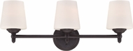 Designers Fountain 15006-3B-34 Darcy Oil Rubbed Bronze 3-Light Bathroom Lighting Fixture