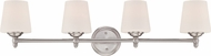 Designers Fountain 15006-4B-35 Darcy Brushed Nickel 4-Light Bath Light Fixture