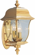 Designers Fountain 1542-PVD-PB Gladiator Polished Brass Outdoor Lighting Sconce