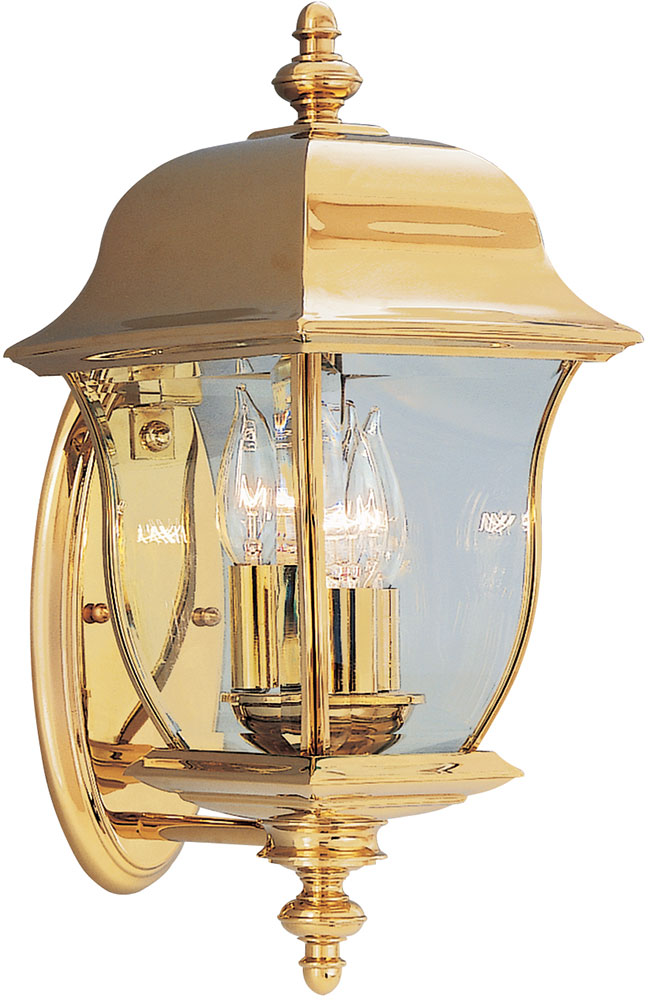 Designers Fountain 1542 Pvd Pb Gladiator Polished Brass Outdoor Lighting Sconce Dsf 1542 Pvd Pb