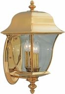 Designers Fountain 1552-PVD-PB Gladiator Polished Brass Exterior Lamp Sconce