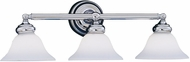 Designers Fountain 4963-CH Opal Essence Chrome 3-Light Bathroom Wall Sconce