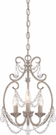 Designers Fountain 6205-AP Dahlia Traditional Aged Platinum Foyer Lighting Fixture