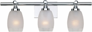 Designers Fountain 6453-CH Astoria Contemporary Chrome 3-Light Bathroom Sconce Lighting