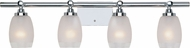 Designers Fountain 6454-CH Astoria Modern Chrome 4-Light Bath Lighting Sconce