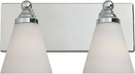 Designers Fountain 6492-CH Hudson Chrome 2-Light Bathroom Wall Light Fixture