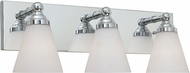 Designers Fountain 6493-CH Hudson Chrome 3-Light Lighting For Bathroom
