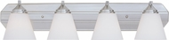 Designers Fountain 6604-SP Piazza Satin Platinum 4-Light Bathroom Light Fixture