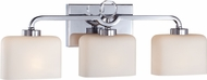 Designers Fountain 6623-CH Venetian Chrome 3-Light Bathroom Sconce