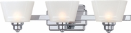Designers Fountain 6673-CH Metropolis Contemporary Chrome Halogen 3-Light Bath Wall Sconce